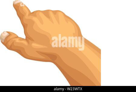 cartoon pointing male hand - Stock Image