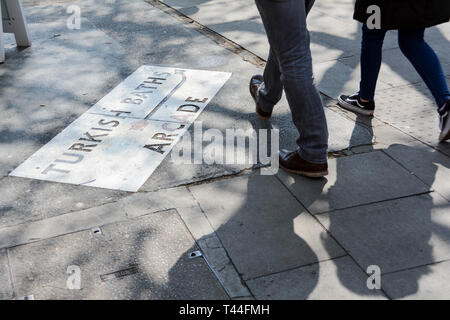 An antique Turkish Baths sign in Russell Square, London, UK - Stock Image