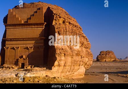 Saudi Arabia, Madinah, nr. Al-Ula, Madain Saleh (aka Hegra). Now a UNESCO World Heritage Site, - Stock Image
