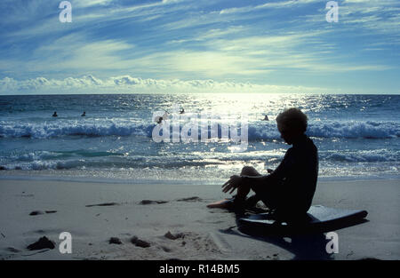Beach scene, City Beach, Western Australia - Stock Image