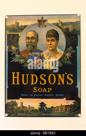 Hudson's Soap vintage advertisement, advertising poster - Stock Image