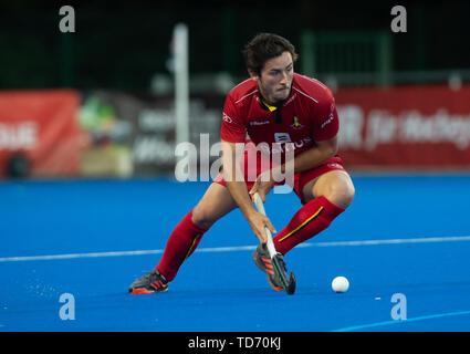 Krefeld, Germany, 12.06.2019, Hockey, FIH Pro League, men, Germany vs. Belgium: Arthur van Doren (Belgium) in action. - Stock Image