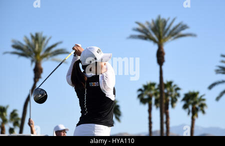 Rancho Mirage, California, USA. 2nd Apr, 2017. Inbee Park of South Korea during the final round of the ANA Inspiration - Stock Image