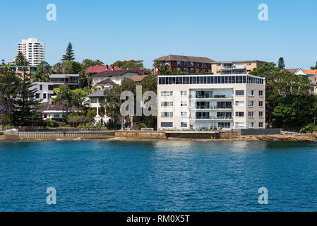 Ferry ride from Circular Quay to Manly in Sydney. - Stock Image