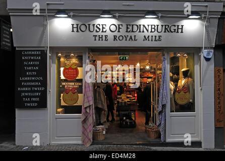 House of Edinburgh tourist shop, The Royal Mile, Scotland, UK - Stock Image