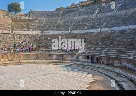 The Amphitheatre At Ephesus, Turkey - Stock Image