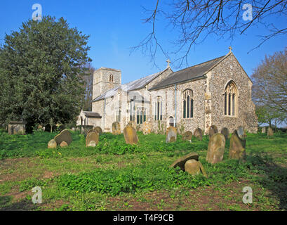 A view of the parish Church of St Margaret at Cantley, Norfolk, England, United Kingdom, Europe. - Stock Image