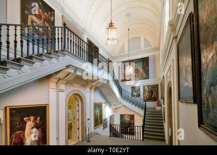 Museo Real Academia de Bellas Artes de San Fernando, Madrid, Museum Royal Academy of Fine Arts of San Fernando interior. - Stock Image