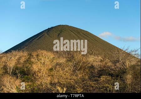 Volcanic cone, Floreana  Island, Galapagos Islands, Ecuador  volcanic cone - Stock Image