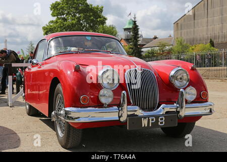 Jaguar XK150 3.4 S Coupe (1959), British Marques Day, 28 April 2019, Brooklands Museum, Weybridge, Surrey, England, Great Britain, UK, Europe - Stock Image