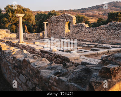 Ruins from an ancient greek civilization near Aliki in Thasos, Greece - Stock Image