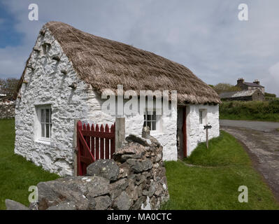 RS 8066  Cowshed, Cregneash, Isle of Man, UK - Stock Image
