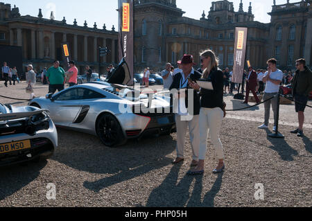 Woodstock, Oxfordshire, UK. 02nd Sep, 2018. Jodie Kidd in attendance at the Salon Prive Concours, Blenheim Palace Classic and Supercar event, Woodstock, Oxfordshire, 2nd Sep 2018 Credit: Stanislav Halcin/Alamy Live News - Stock Image