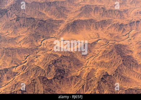 Wüste, Luftaufnahme, Oman, Afrika - Stock Image