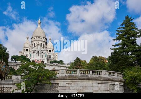 Sacre Coure Church, Paris, France - Stock Image