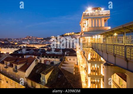 Portugal Lisbon Portugal View from Elevator Santa Justa - Stock Image