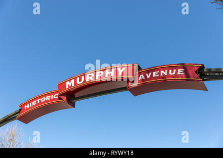 Historic Murphy Avenue, street portal; Sunnyvale, California, USA - Stock Image