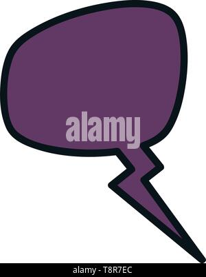 speech bubble message icon vector illustration design - Stock Image