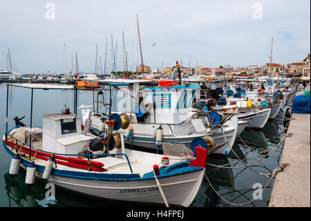 Aegina is one of the Saronic Islands of Greece in the Saronic Gulf. - Stock Image