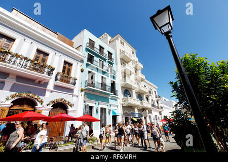People on the street, Old San Juan, San Juan, Puerto Rico - Stock Image