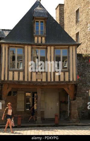 Maison d Auguste Pavie, Place Saint Saveur, Dinan, Cotes d'armor, Brittany, France - Stock Image