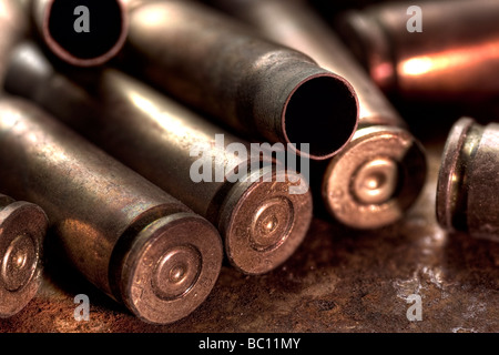 Empty AK-47 casings - Stock Image
