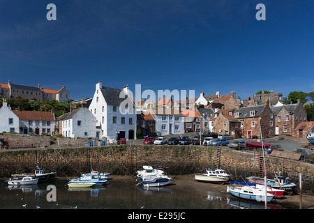 Crail Harbour in the East Neuk of Fife - Stock Image