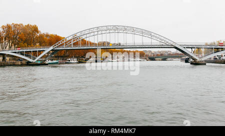 Paris (France) - Debilly Footbridge on river Seine - Stock Image