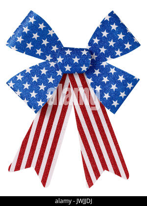 Red White and Blue bow - Stock Image