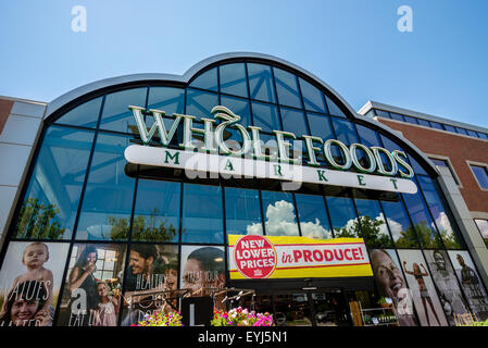 Whole Foods Storefront - Trolley Square - Salt Lake City, Utah - Stock Image