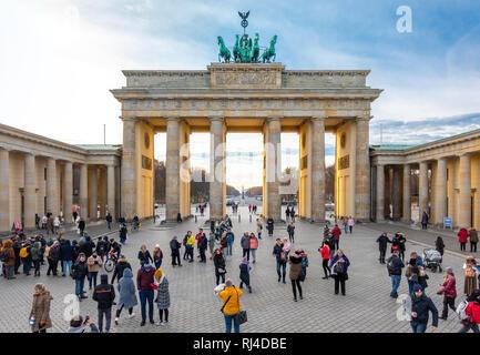 Berlin Brandenburg Gate, Berlin Brandenburger Tor - Stock Image