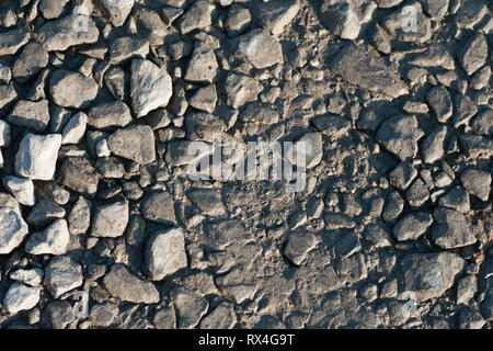 Gravel road surface - Stock Image