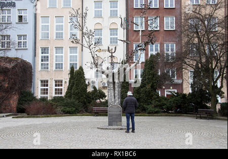 Stainless steel Millenium Tree to commemorate 1000 years since the founding of the Polish city of Gdansk - Stock Image
