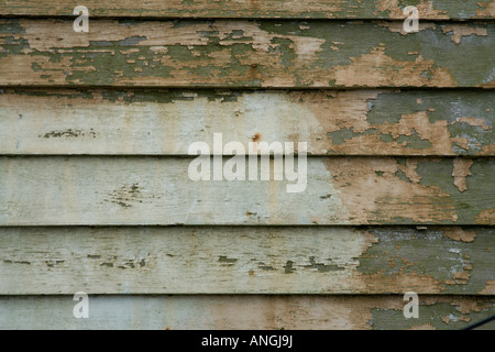 Faded wooden siding - Stock Image