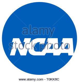 NCAA College Basketball logo icon - Stock Image