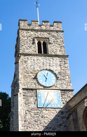 St Mary's Church, Putney High Street, Putney, London Borough of Wandsworth, Greater London, England, United Kingdom - Stock Image