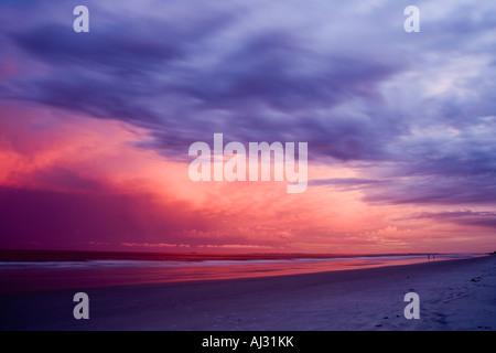 After the storm at sunset on Hilton Head Island South Carolina - Stock Image