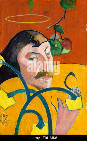 Paul Gauguin (1848-1903), Self Portrait with Halo and Snake, 1889 - Stock Image
