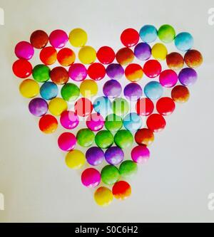 Smartie Heart - Stock Image