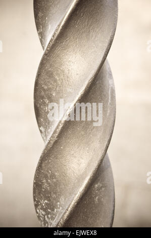 Close up of part of a metal spiral pole - Stock Image