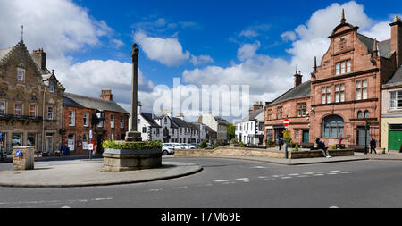 The centre of Melrose in the Scottish Borders - Stock Image