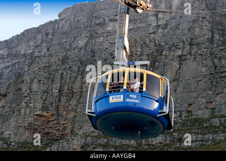 south africa cape town table mountain funicular - Stock Image
