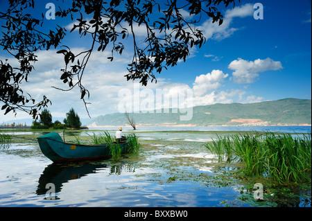 Erhai Hu (Ear Lake), Dali, China - Stock Image