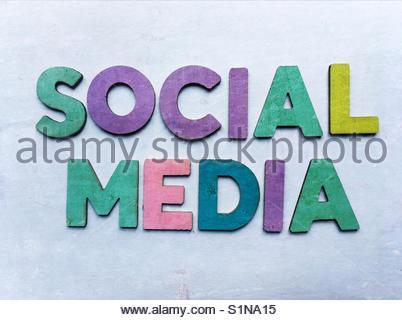 social Media (words) - Stock Image