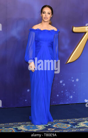 London, UK. 09th May, 2019. LONDON, UK. May 09, 2019: Katie Piper at the 'Aladdin' premiere at the Odeon Luxe, Leicester Square, London. Picture: Steve Vas/Featureflash Credit: Paul Smith/Alamy Live News - Stock Image