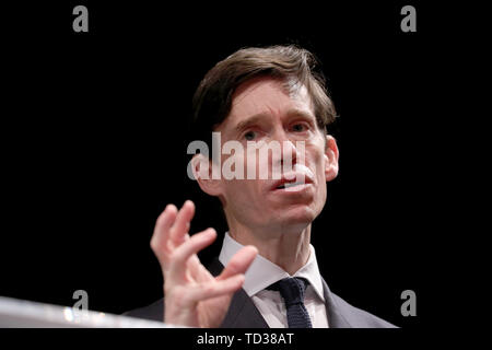 Rory Stewart launches his campaign to become leader of the Conservative and Unionist Party and Prime Minister at the Underbelly Festival on the south bank of the River Thames, central London. - Stock Image
