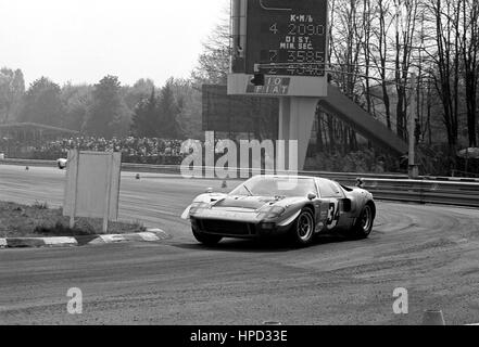 1969 Dominique Martin French Ford GT40 Monza 1000Ks 15th - Stock Image