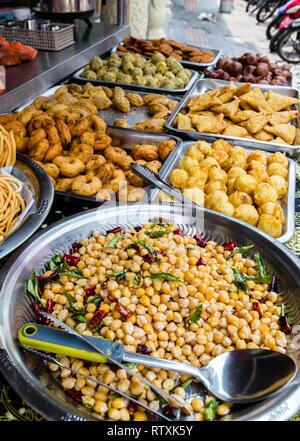Little India Streetside Restaurant Serving Indian fast Food, Brickfields, Kuala Lumpur, Malaysia. - Stock Image
