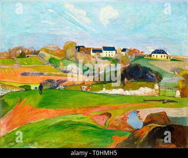 Paul Gauguin, Landscape at Le Pouldu, 1890 - Stock Image