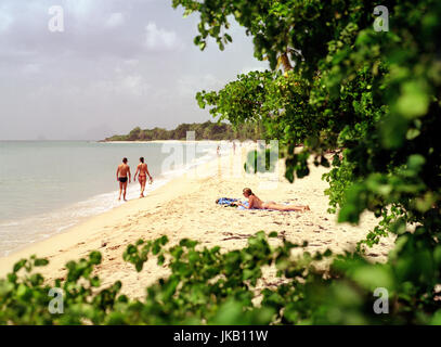 A view of the Caribbean sea at Sainte-Anne Beach. The village of Sainte Anne is the southernmost village on Martinique. - Stock Image